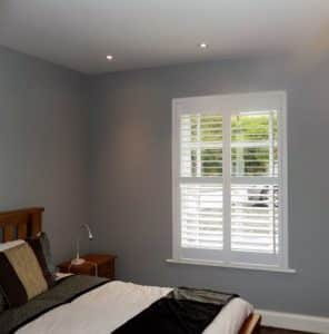 Bedroom Grey Shutters