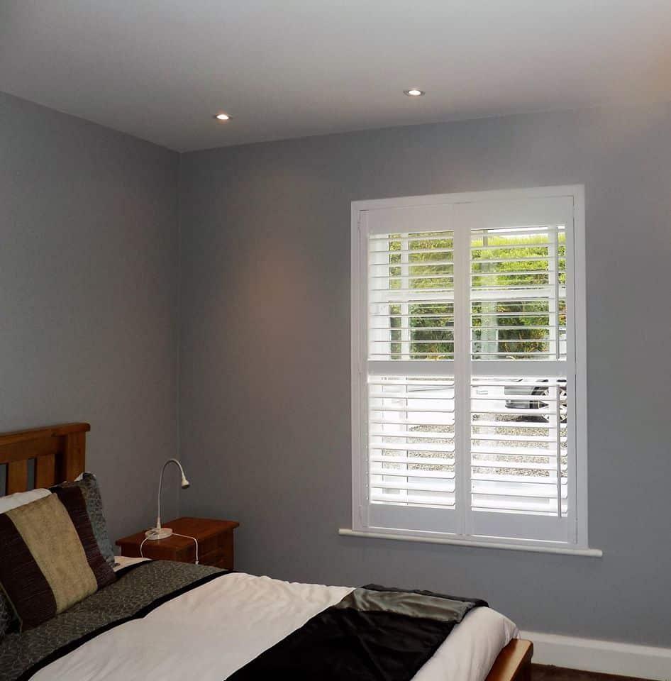 Bedroom Grey Shutters