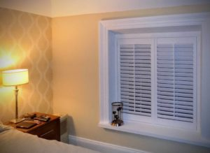 Bedroom recess window-shutters