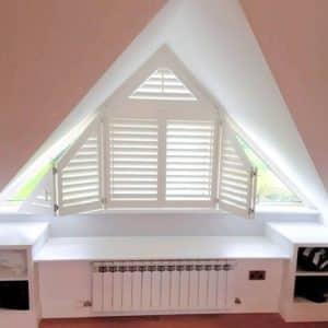 Attic dormer shutters