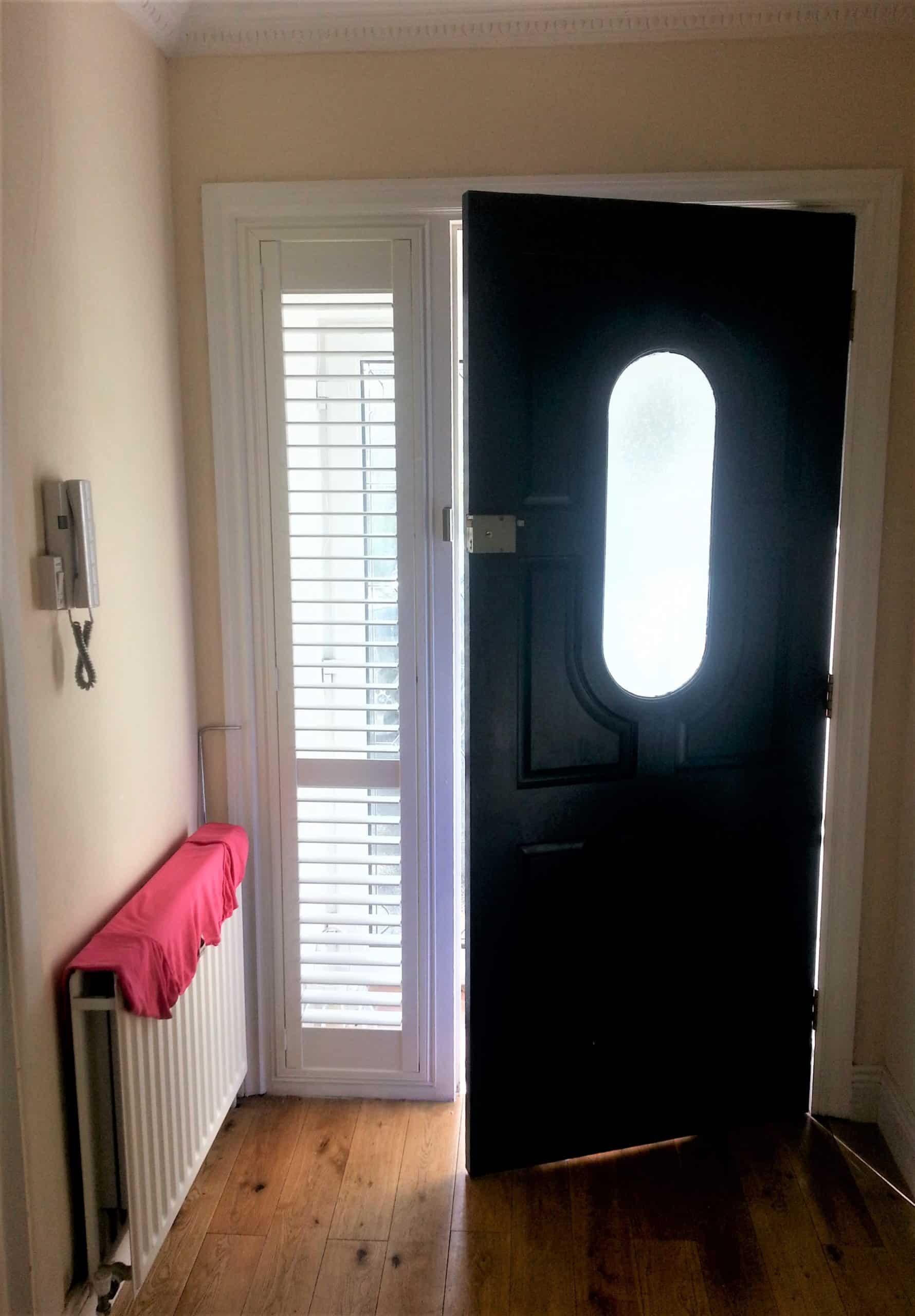 Black Front Door Shutters