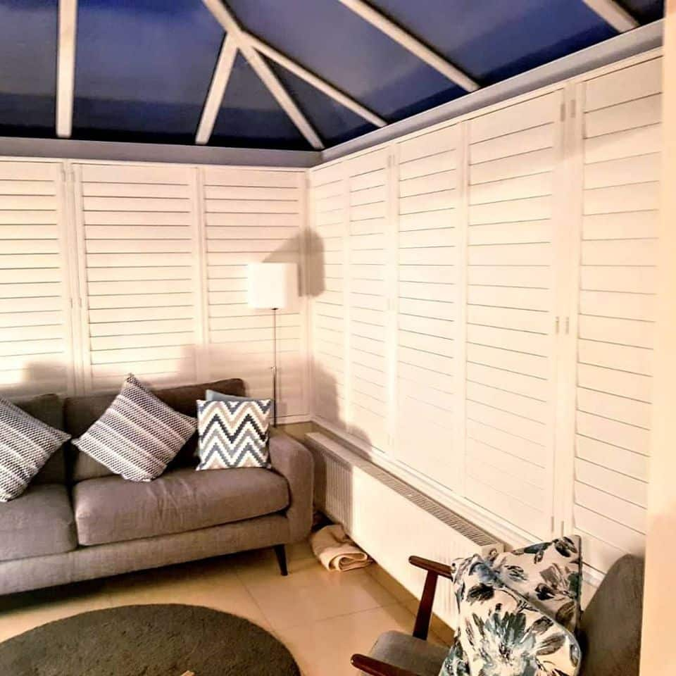 Conservatory window shutters