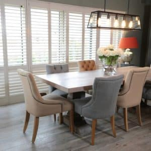 Dining Room Shutter Doors