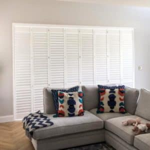 Dining Room door shutters closed