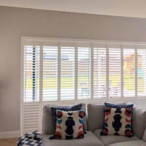 Dining room door shutters
