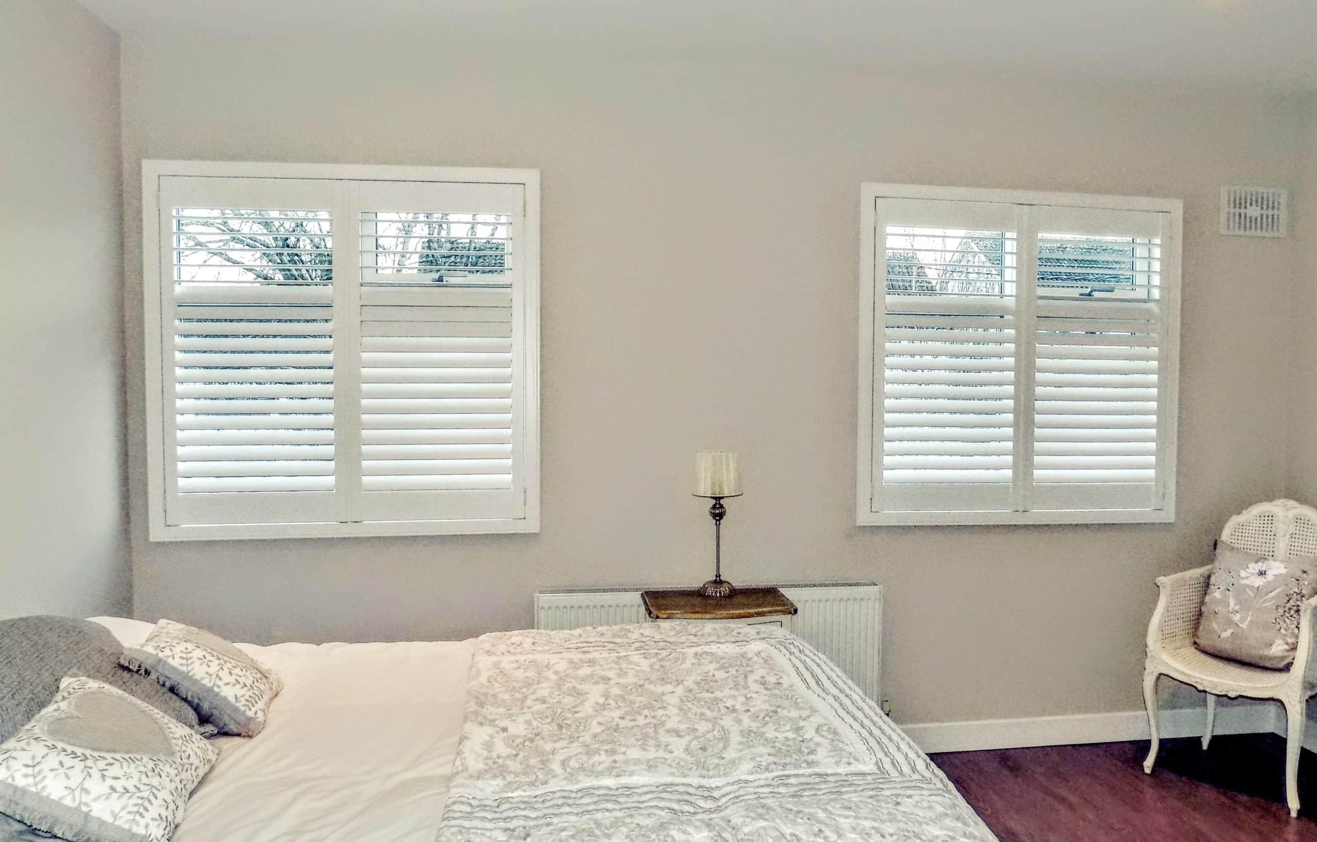 Grey Bedroom Shutters