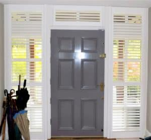 Hall Door Sidelights Grey Door