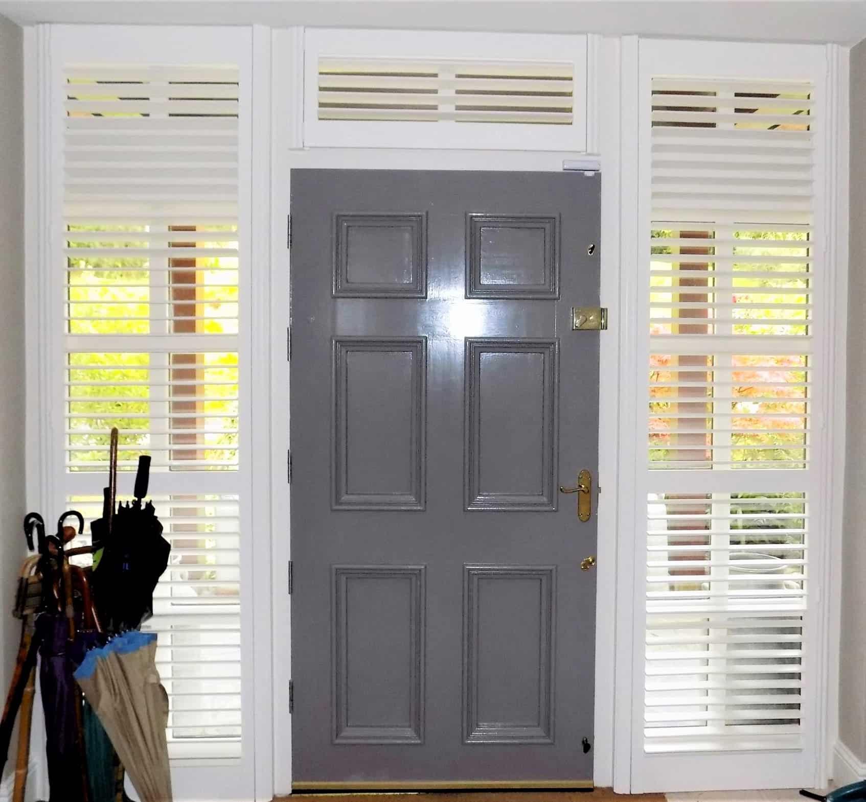 Hall Door Sidelights Grey Door