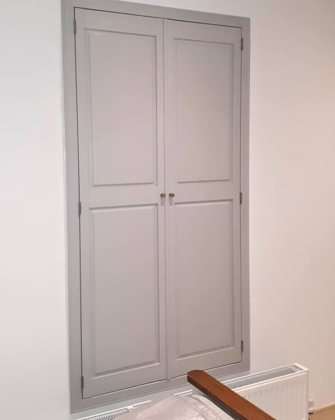 Hall Grey Solid Shutters