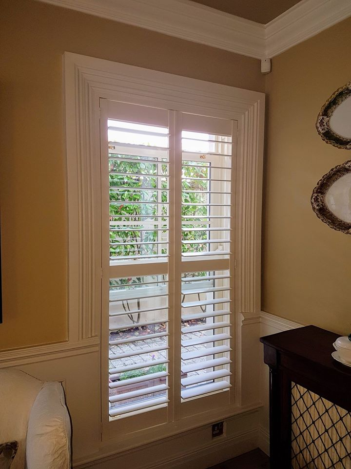 Living Room Shutters Architrave