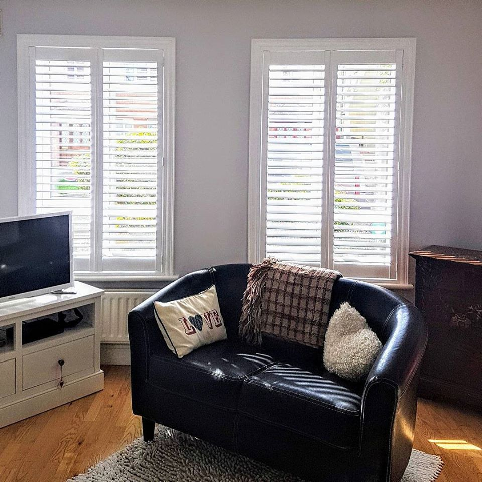 Living Room Shutters Double