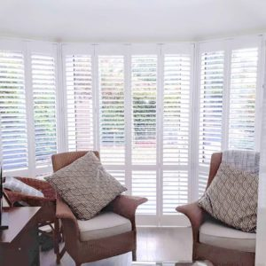 Living Room Sunroom Shutters