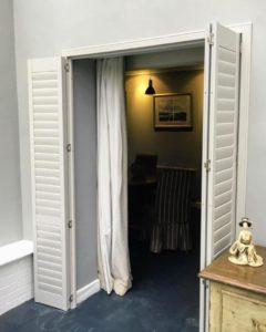 Room Divider Shutters Open