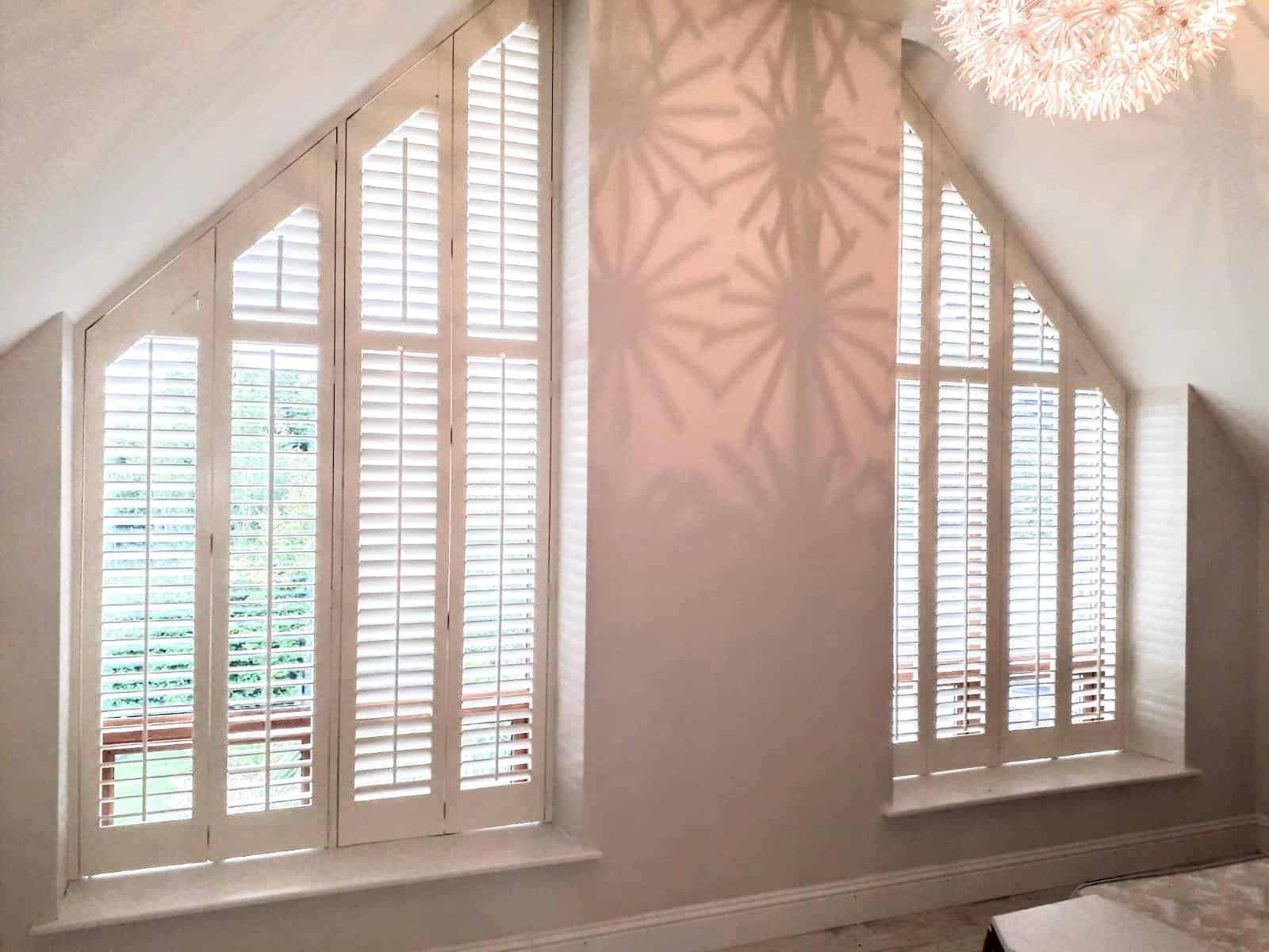 Shaped Bedroom Shutters