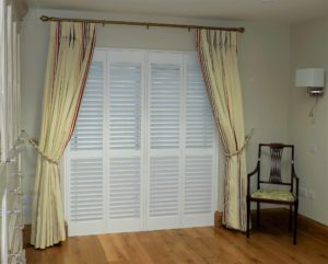 Shutters dining room french doors