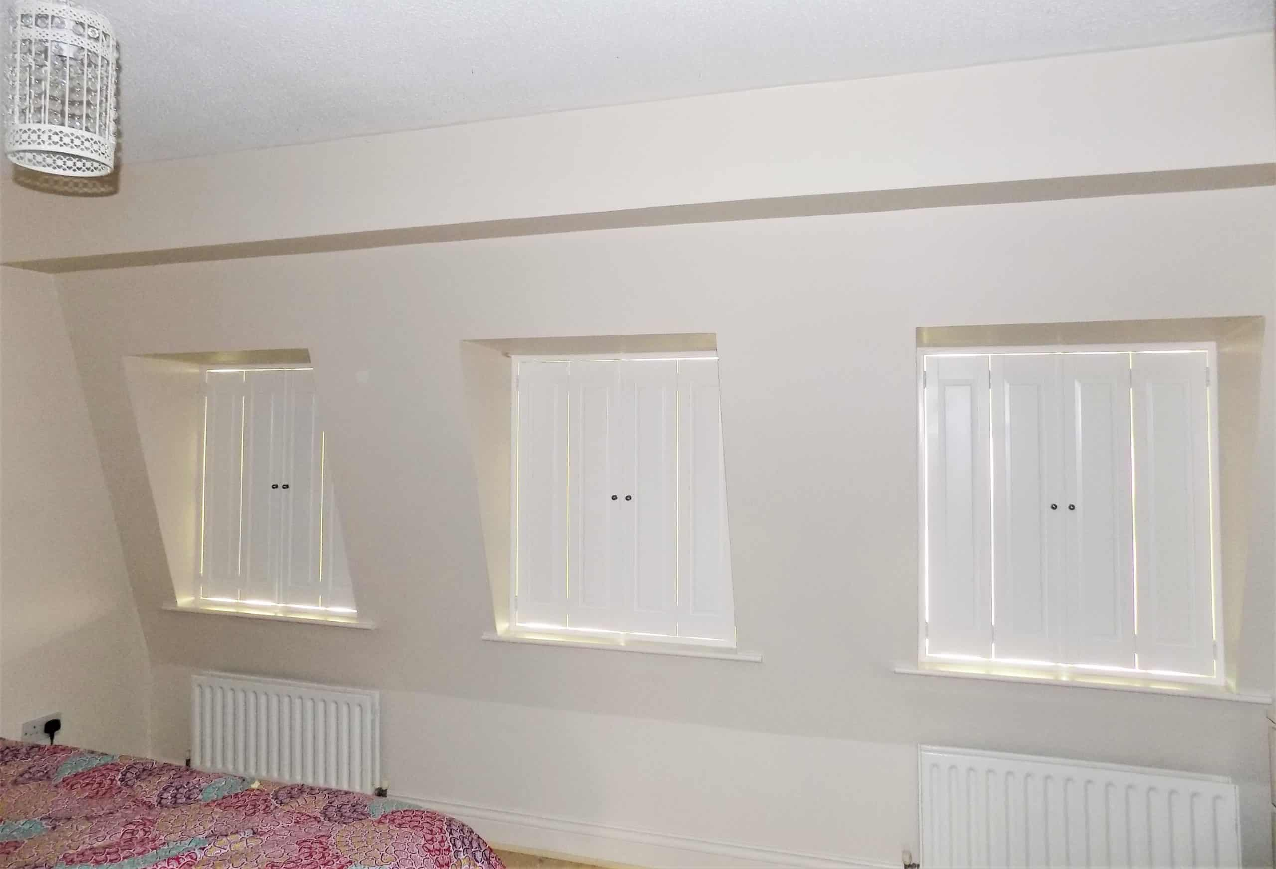 Solid Bedroom Shutters Closed