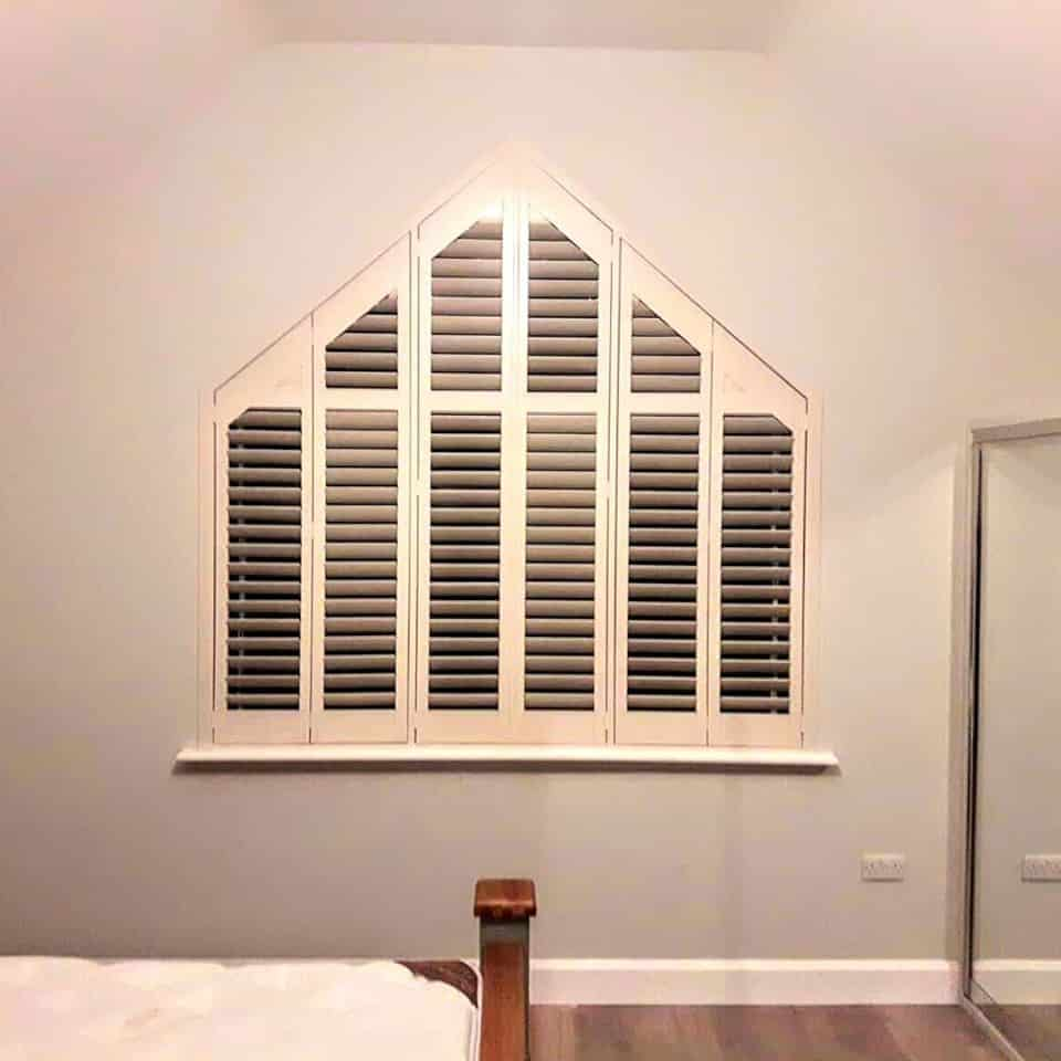 Triangle Bedroom shutters