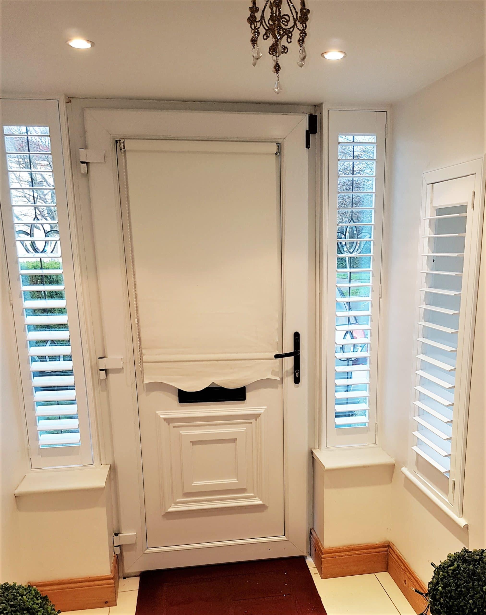 White Front Door Sidelights