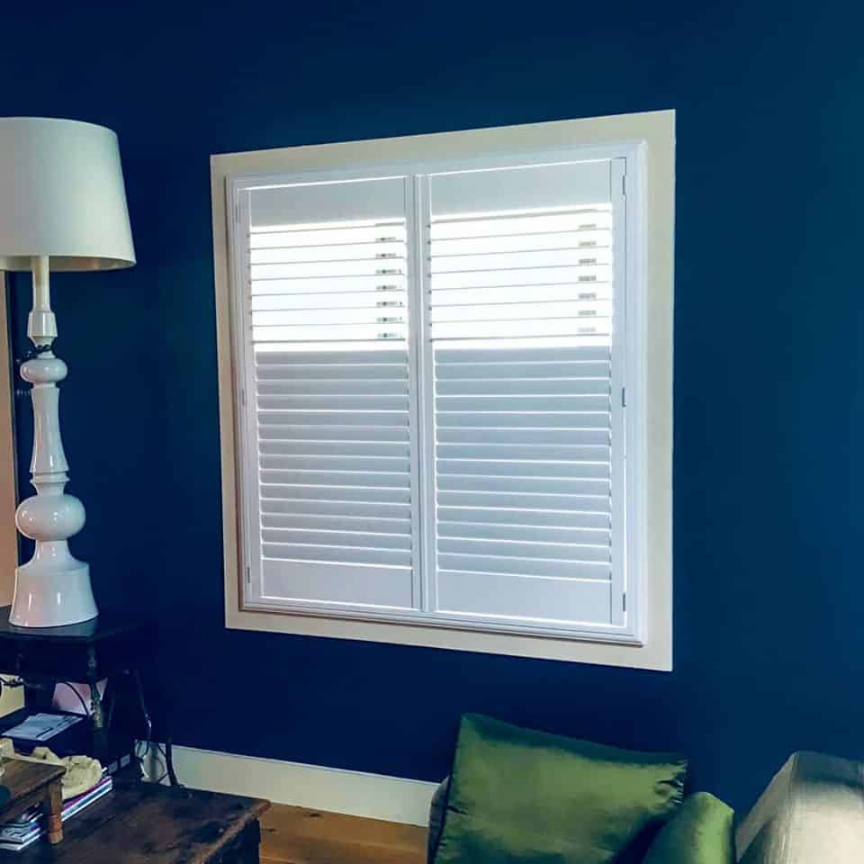 sitting room shutters navy